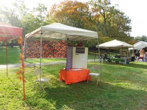 Spiritual Spectra's tent at Baltimore Pagan Pride Day