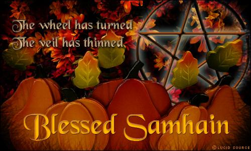 Blessed Samhain Happy Halloween Spiritual Spectra