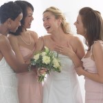 Bridesmaids Surrounding Bride