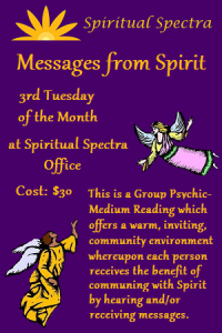 Messages From Spirit - click here for more info