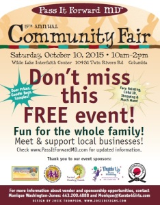 Stop by Spiritual Spectra booth at the Pass It Forward Community Fair October 10, 2015