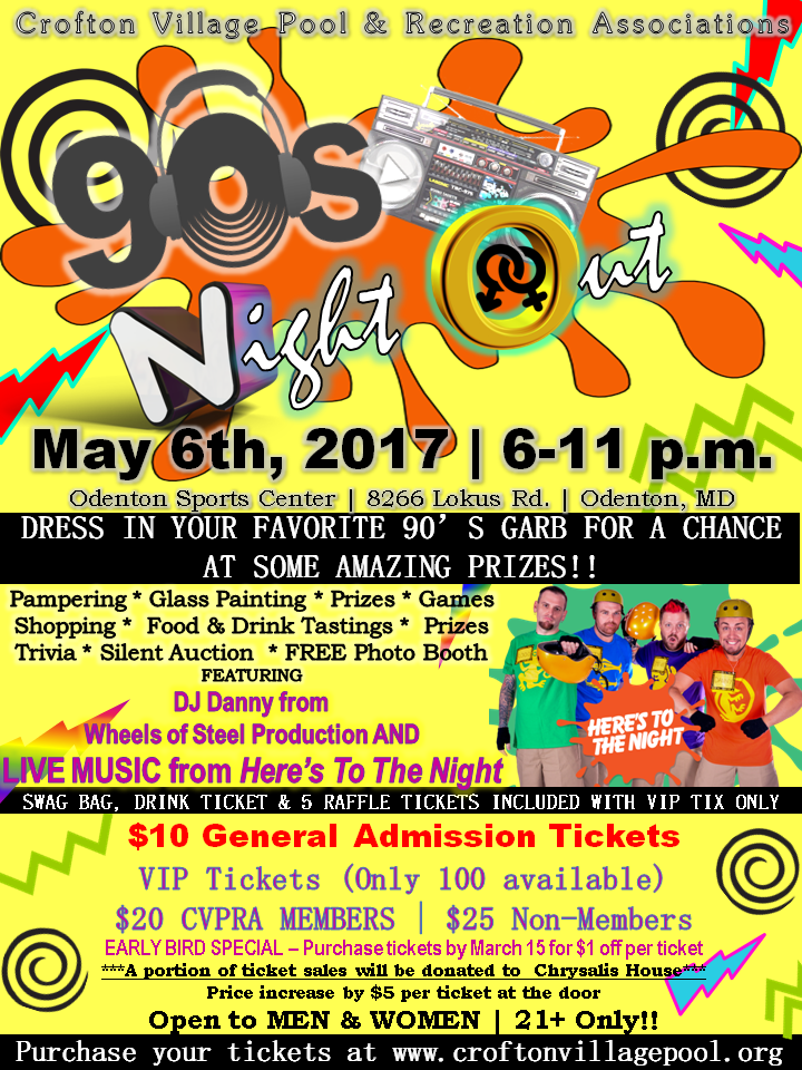 90's Night Out flyer
