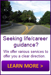 Image asking if you are seeking life or career guidance to click here to learn more.