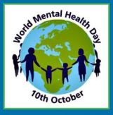 image announcing World Mental Health Day as October 10th.