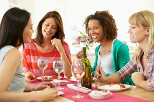 photo of women conversing