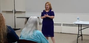 Photo of Jennifer Garcia speaking