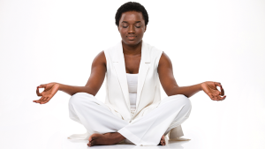 picture of woman meditating